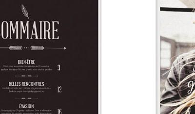 Maquette magazine lifestyle féminin