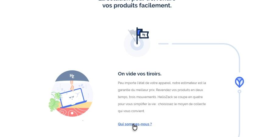 HelloZack_UX-UI Design and Illustrations Homepage