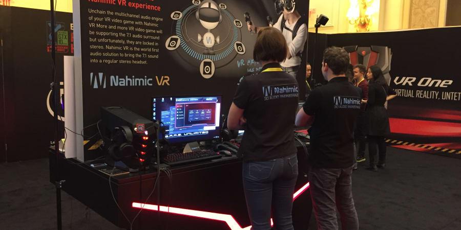 Nahimic 3D audio sound chez MSI au CES Las Vegas
