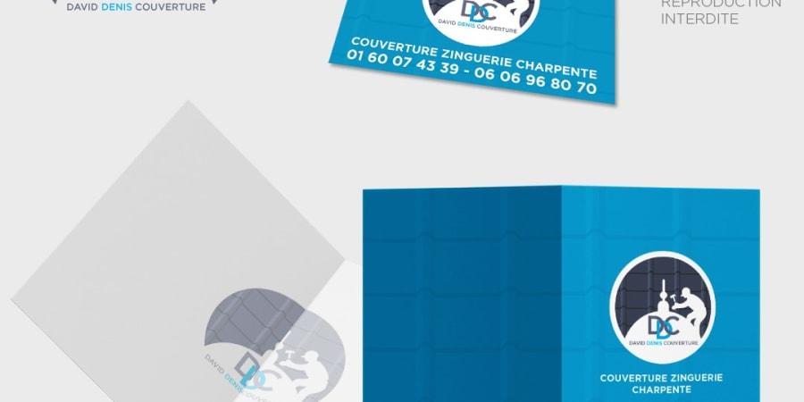 Logo, carte de visite et pochette commerciale