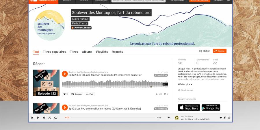 Soulever des Montagnes — Identité visuelle, carte de visite, visuel pour réseaux sociaux