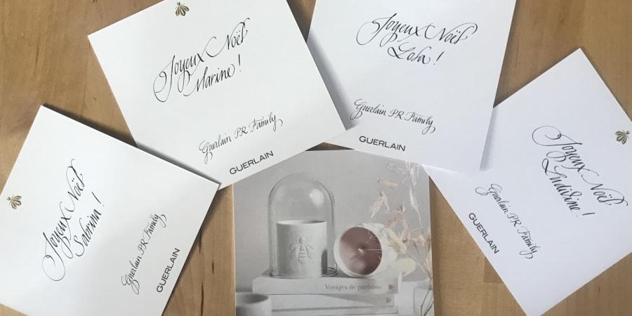 Carte de vœux pour Guerlain