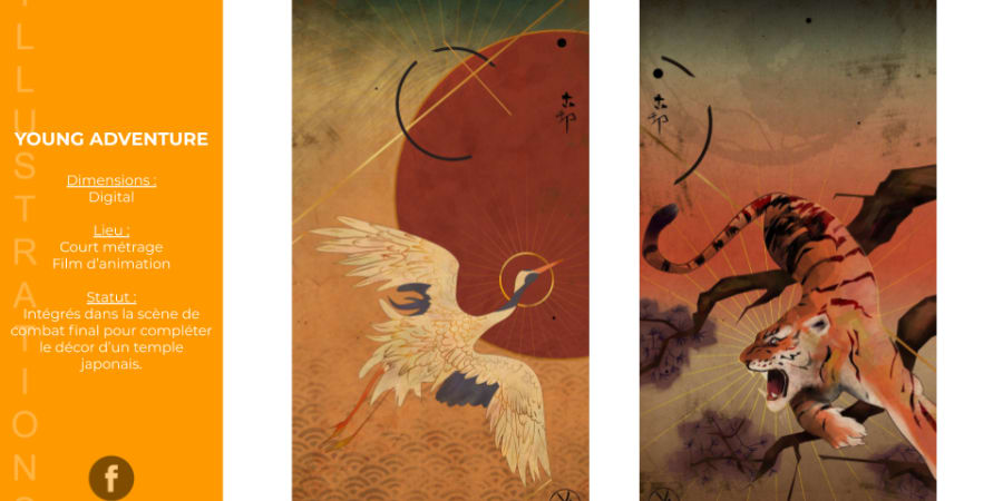 Illustrations pour un film d'animation