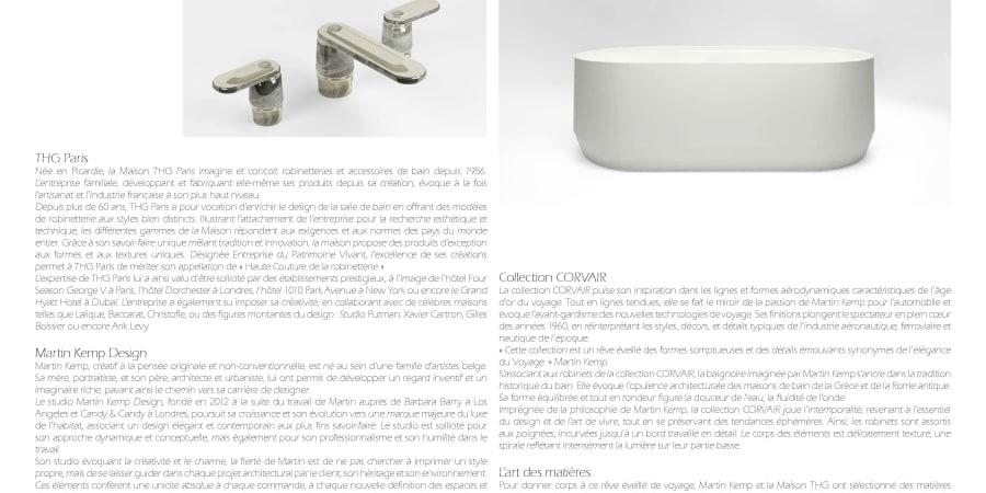 Rédaction de Catalogue produit - Robinetterie de luxe