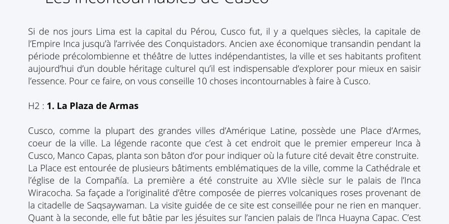 Rédaction web Article de blog Tourisme