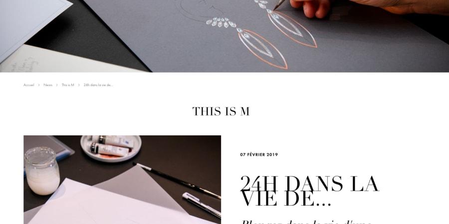 Article de magazine online de marque