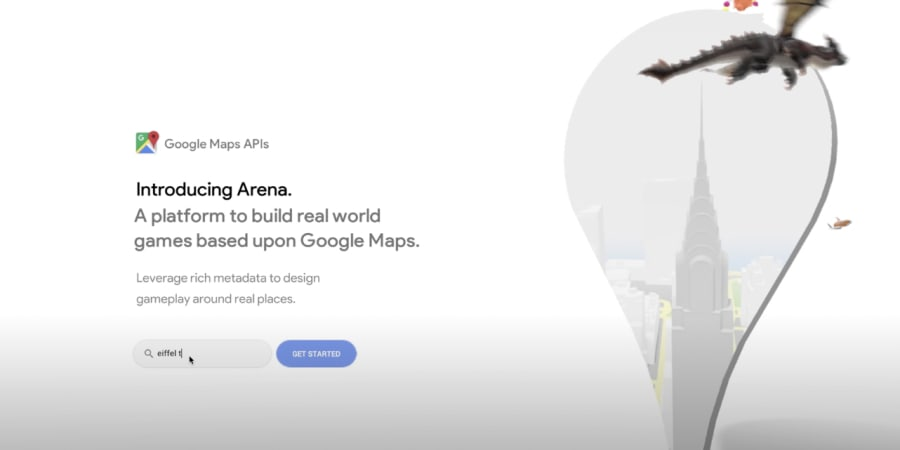 Google Maps - Arena project