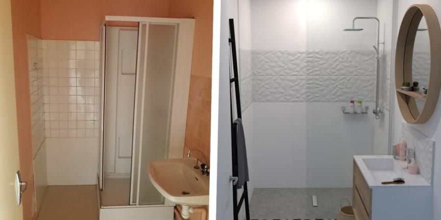 Simulation de la rénovation d'une petite salle d'eau
