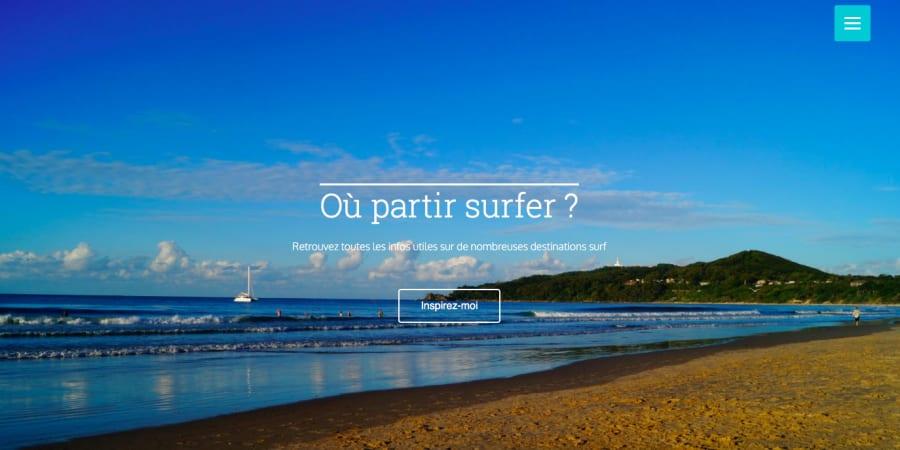 Lancement du projet Où Partir Surfer