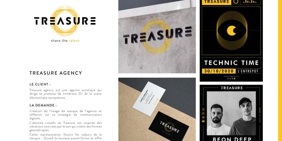 Création de l'identité visuelle Treasure agency