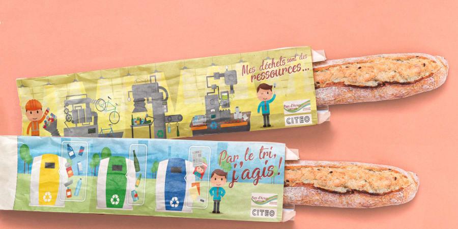 Création d'illustrations de sensibilsation au tri des déchets - Communauté du Pays Liernois
