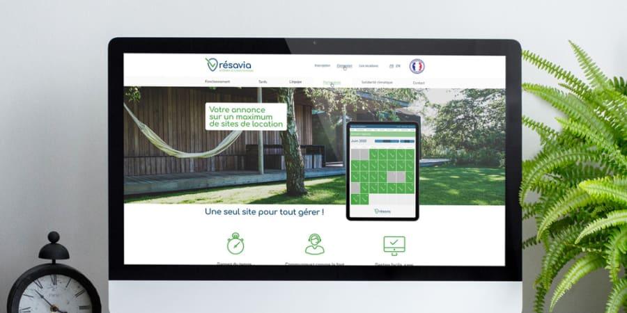 Identité visuelle + Webdesign UI/UX de Résavia