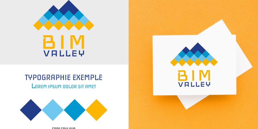 Création d'un logo pour le lancement de l'entreprise BIM VALLEY - Identité visuelle