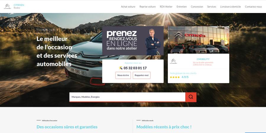 FranceProNet : Travail de refonte des sites concession de Maurel Auto