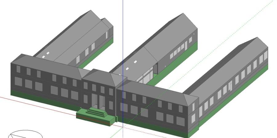 Modelé 3D-Simulation thermique d'école