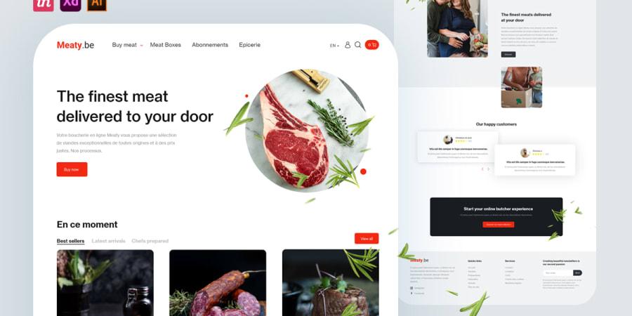Meaty Boucherie en ligne   UI/UX Designer