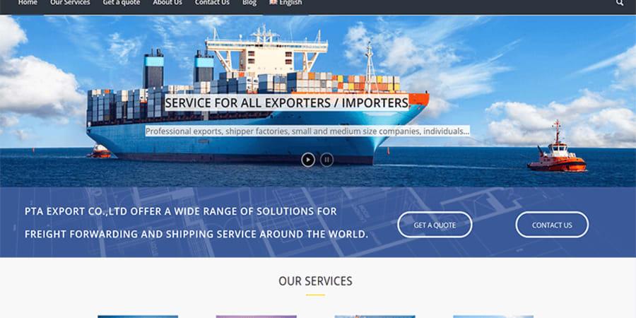Création de site pour une société d'import-export
