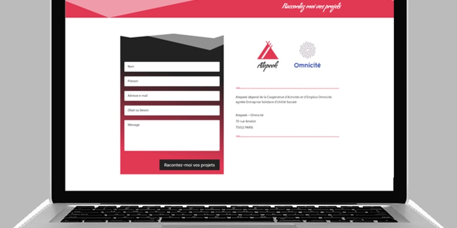 Page contact site web Atepeek