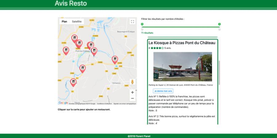 Site d'avis de restaurants