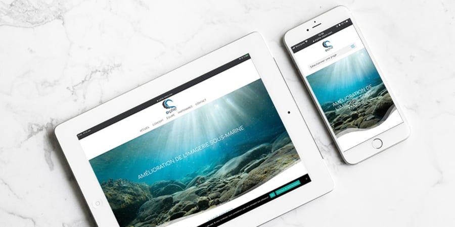Site internet Orphie - Amélioration de l'imagerie sous-marine (tech)