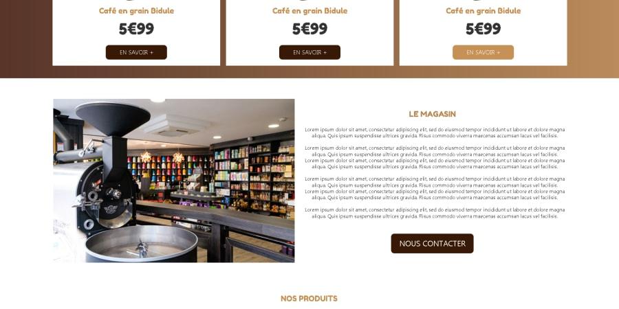 Maquette d'un site web