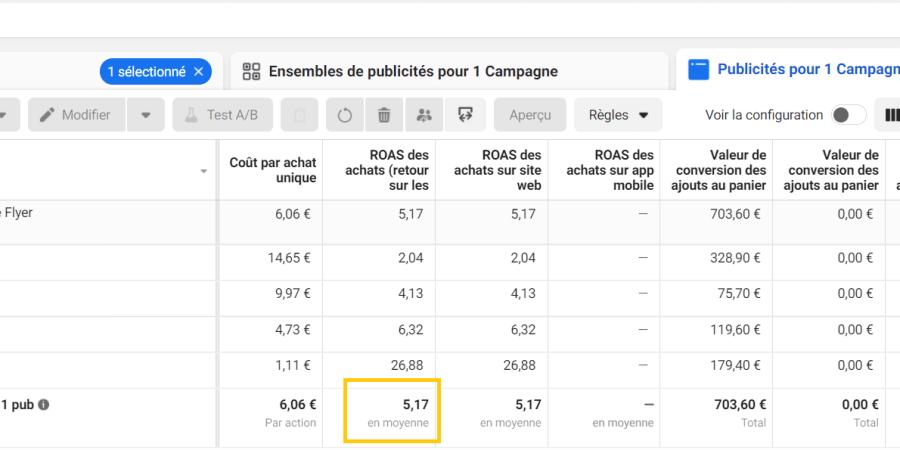 Campagne Facebook très profitable pour un site de E-commerce