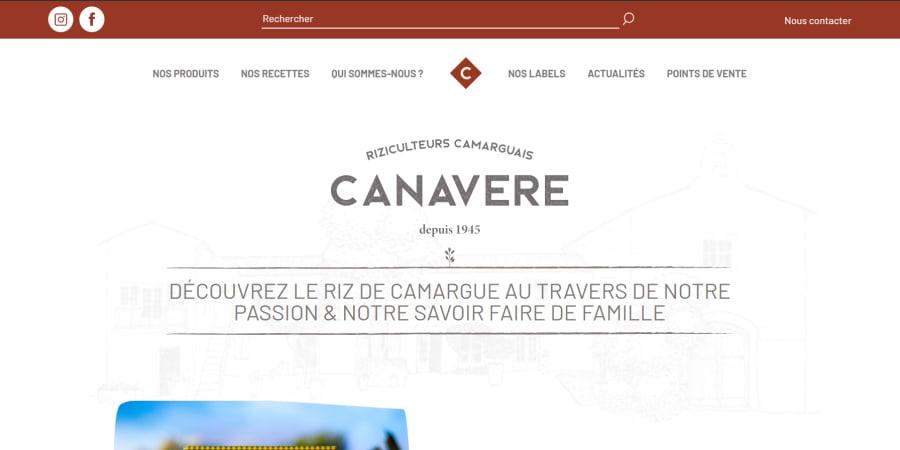 Création du site internet Canavere et stratégie SEO
