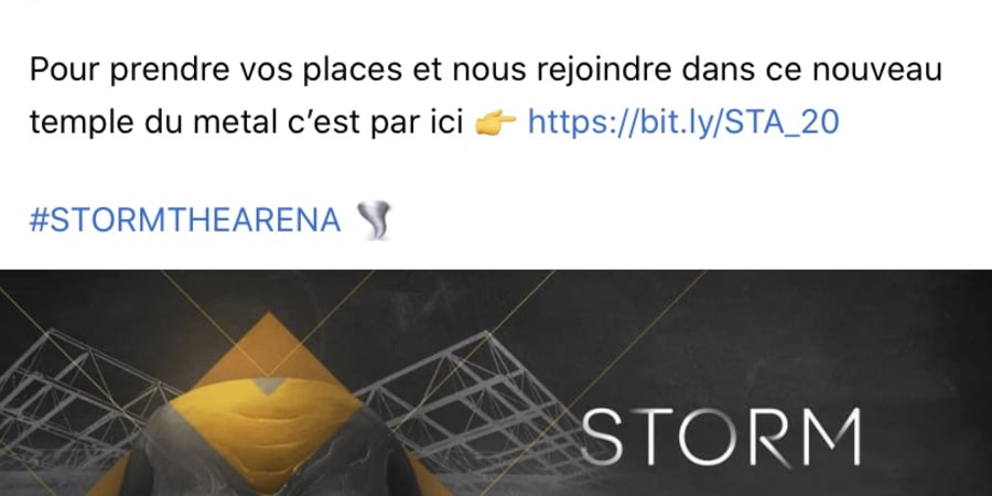 Accor Arena / Social Media / Annonce Storm The Arena