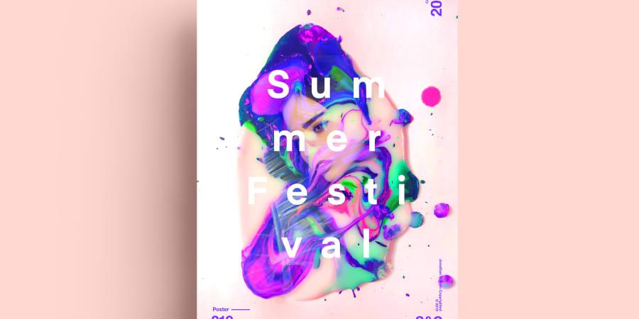 Exemple de design d'affiche pour un festival