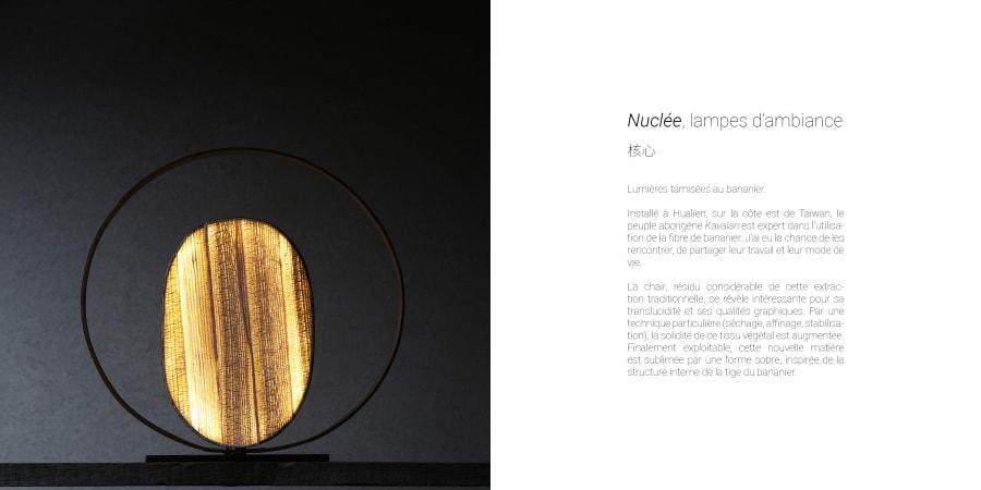 Nuclée, lampes d'ambiance en bambou et bananier