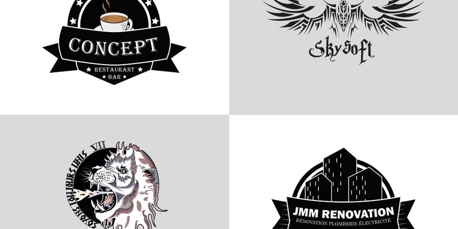 Quatre concepts de logo.