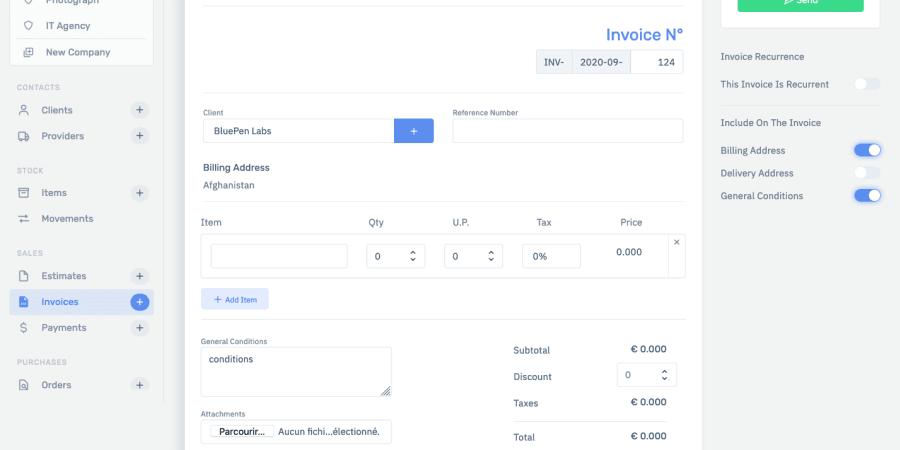 BirouSuite, Facturation en ligne