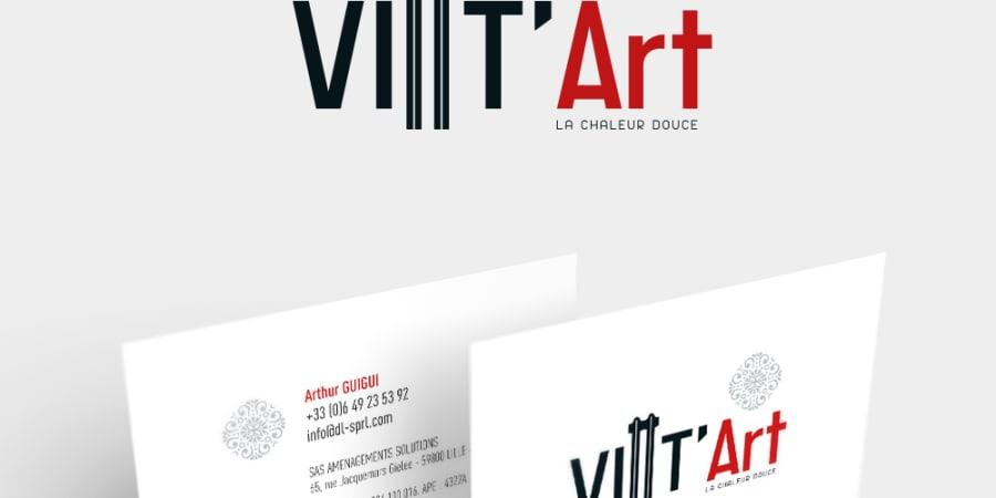 Logo VINT'ART - Carte de visite - Dépliant produits