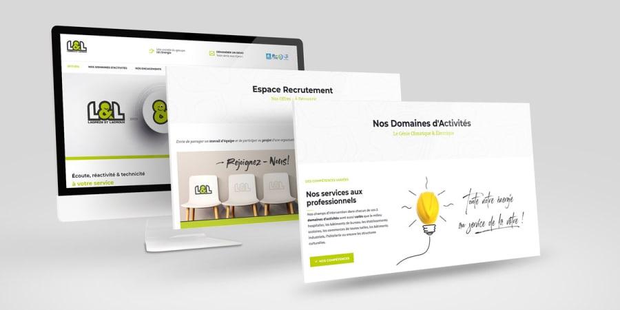 Création d'un site Vitrine pour la société de Plomberie et d'électricité Lagrèze et Lacroux