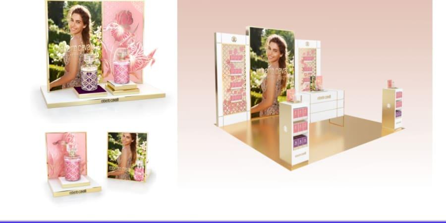 Création de matériel merchandising pour la marque Cavalli Campagne