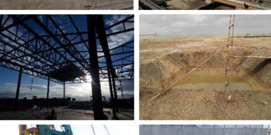 Chantier construction usine