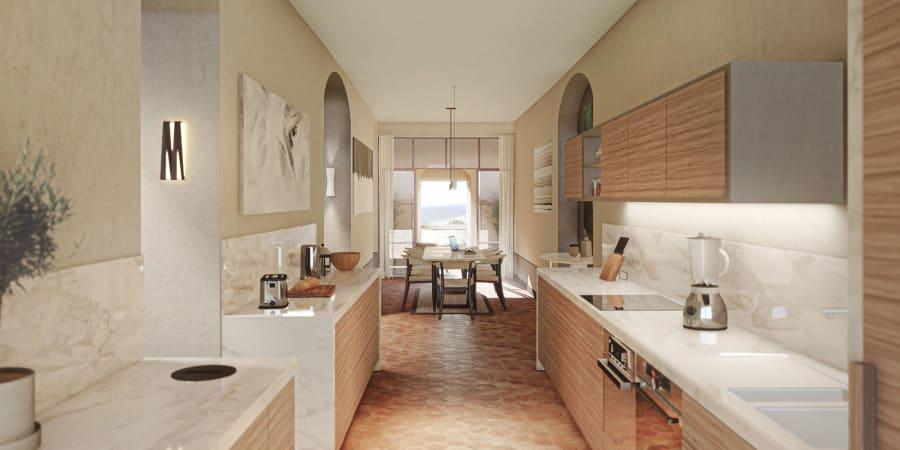Rendus photoréalistes appartements luxe