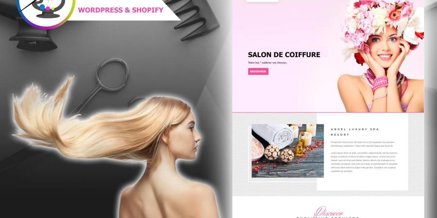Site internet Wordpress professionnel pour votre salon de coiffure