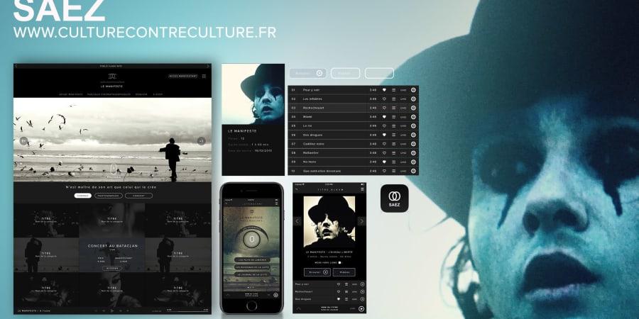 Création d'une plateforme web & application mobile pour Damien SAEZ