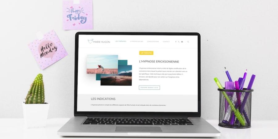 Création site web Marie Hugon