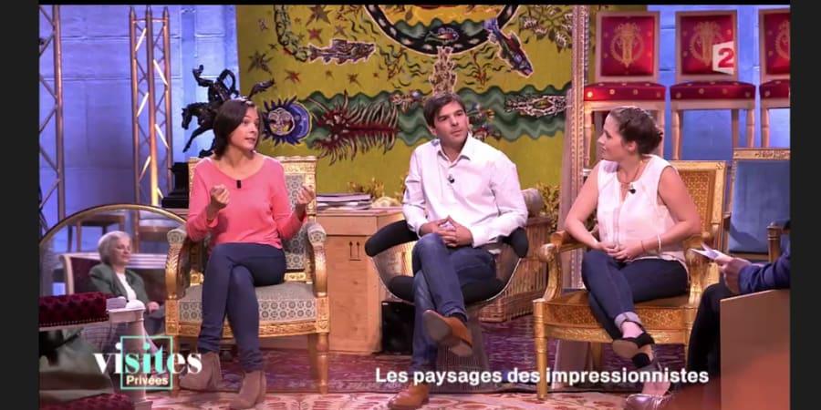 Enregistrement émission Visites Privées, quotidienne sur France 2