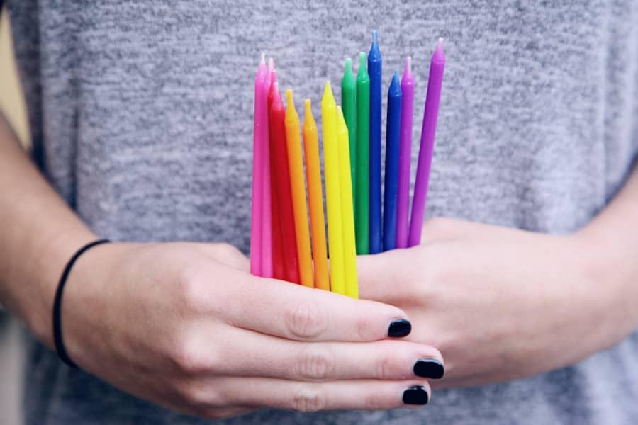 bougies de couleur