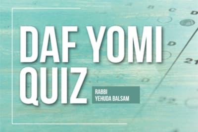 Daf Yomi Quiz