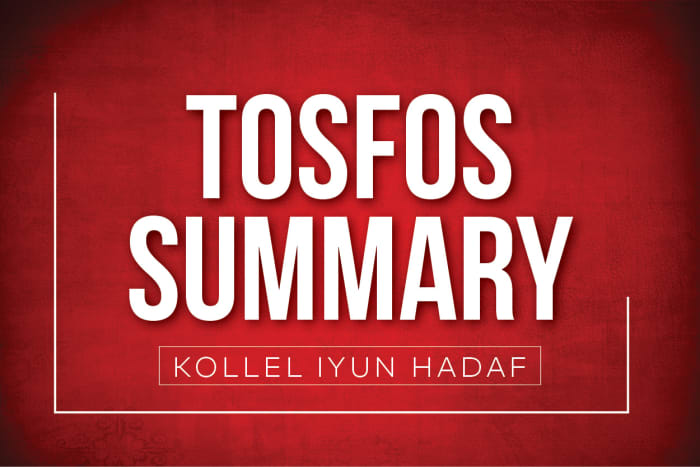 Point By Point Summary Of Tosfos