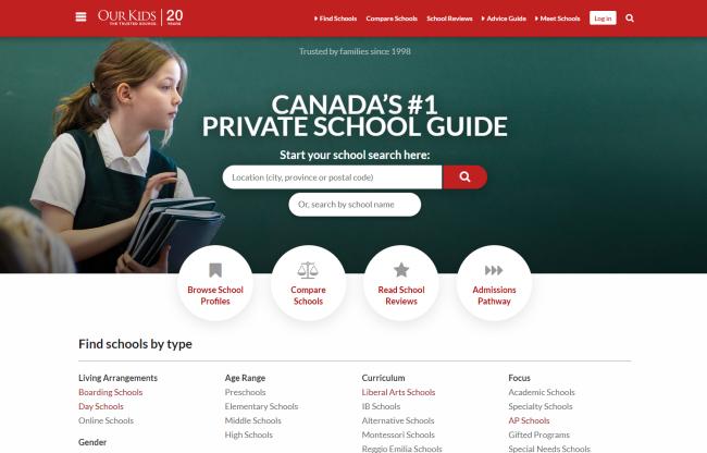 Our Kids School Homepage