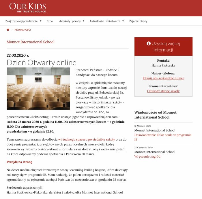 our kids articles