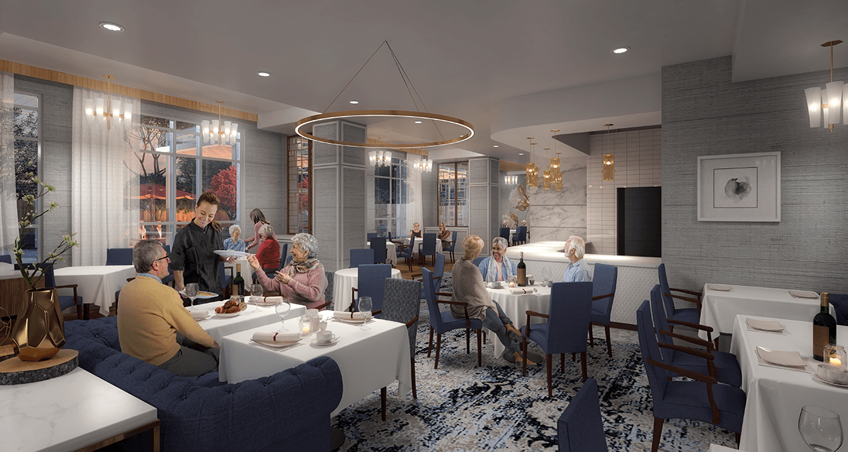 Dining at The Shores of Port Credit rendering