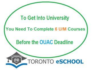 Need Six U/M Courses to Get into University