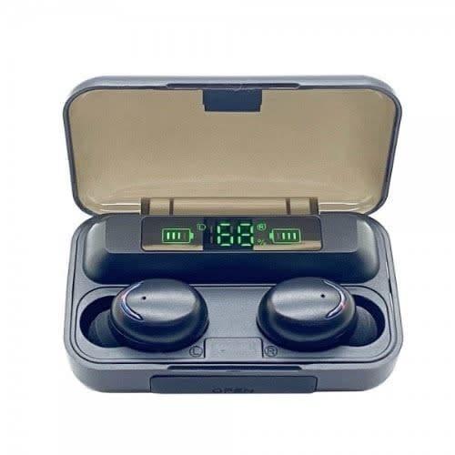 Air F9 Pro + Wireless Bluetooth Hifi 8d Sound Surround Tune Earbuds -Black
