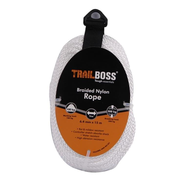 TrailBoss 6.4mm x 15m Braided Nylon Rope - default
